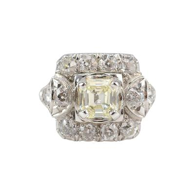 Platinum 2 13 CTW Diamond Art Deco Ring