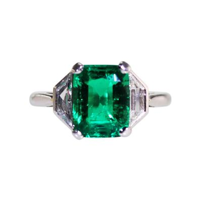Platinum 2 70 Colombian Emerald and Diamond Ring