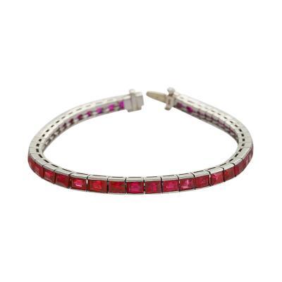 Platinum Bracelet with Rubies