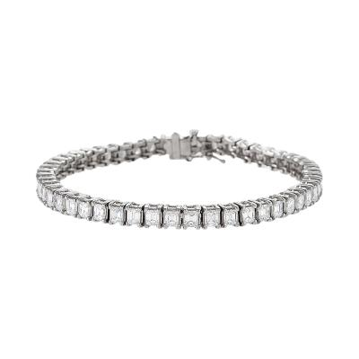 Platinum Line Bracelet with Diamonds