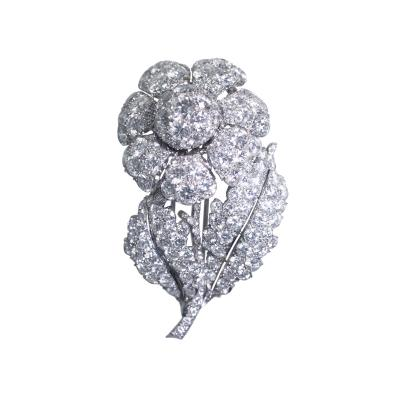 Platinum and Diamond Flower Brooch Circa 1950
