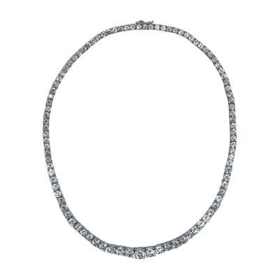 Platinum and Diamond Rivi re Necklace