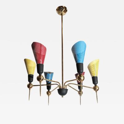 Playful Mid Century Modern Italian Chandelier