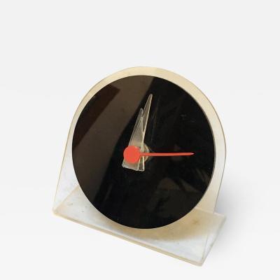 Plexiglass desk clock 1980s