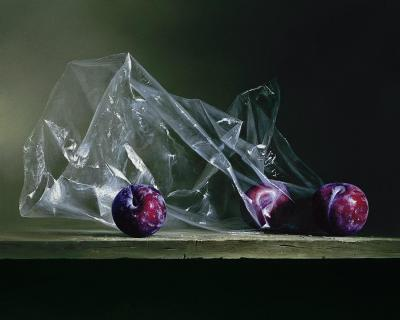Plums in Plastic Contemporary Giclee by Dario Campanile