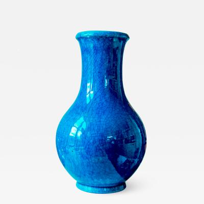 Pol Chambost Cerulean Vase by Pol Chambost