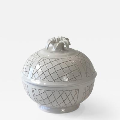 Pol Chambost White ceramic box by Pol Chambost