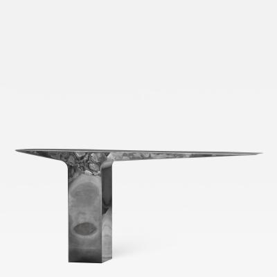 Pol Quadens Blade Console by Pol Quadens in stainless steel 2014