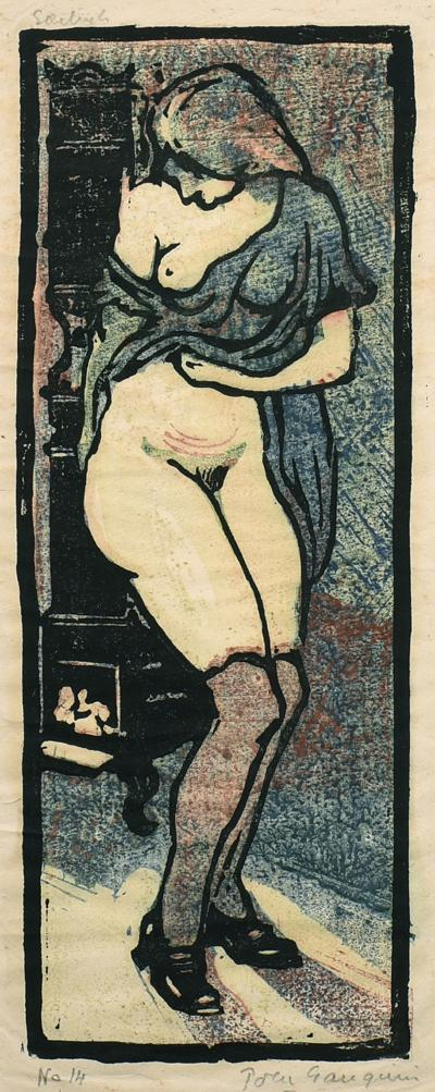 Pola Gauguin Warming by the Woodstove