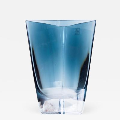 Poland LSA Art glass Triangular Handblown Decorative Glass Vase