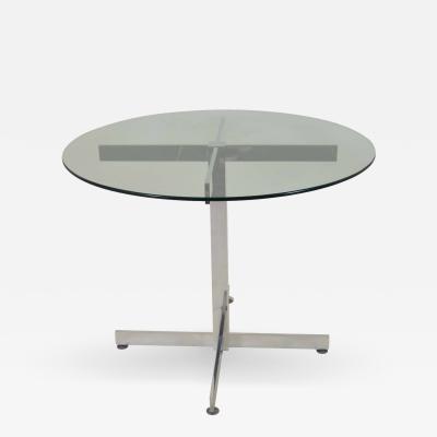Polished Aluminum Modernist Table