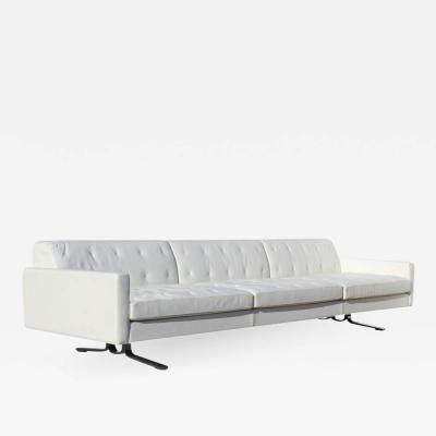 Poltrona Frau Over Scale Poltrona Frau Italy Leather and Stainless Steel Sofa