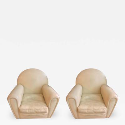 Poltrona Frau Pair of Italian Mid Century Leather Armchairs Lounge Chairs Poltrona Frau 1970