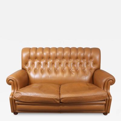Poltrona Frau Poltrona Frau Leather Sofa Model Bonnie Tobacco