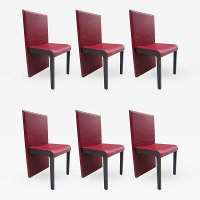 Poltrona Frau Six Leather Dining Chairs by Poltrona Frau