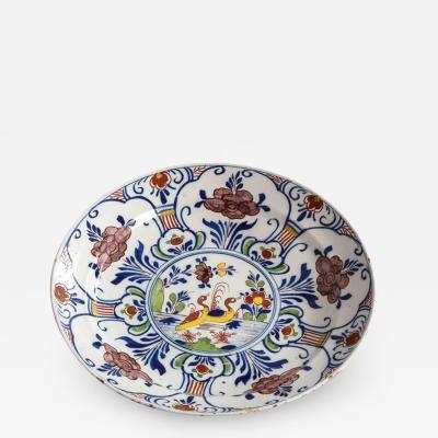 Polychrome Delft Deep Dish