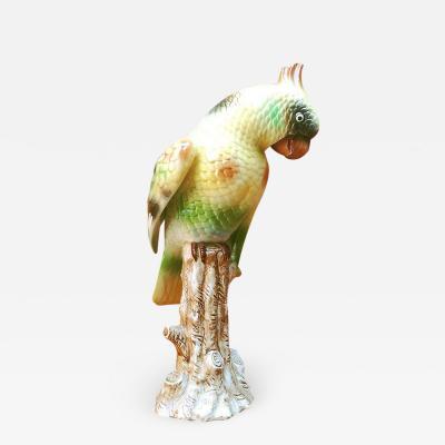 Polychrome ceramic parrot 1960s