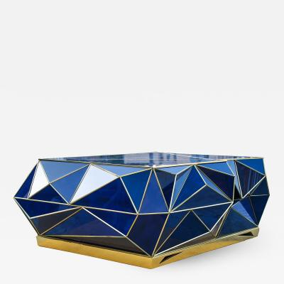Polytope Coffee Table in Cobalt