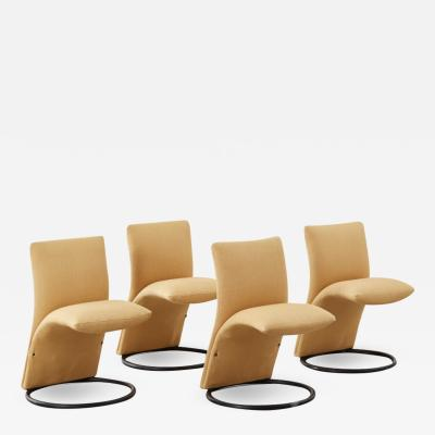 Pompeo Fumagalli Four Pompeo Fumagalli chairs Fumagalli Italy 1970s