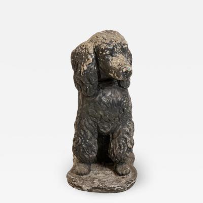 Poodle Dog Stone Garden Ornament