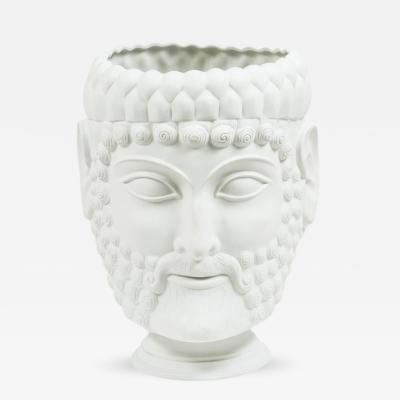 Porcelain Assyrian Figure Planter