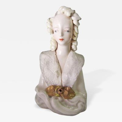 Porcelain Bust of Victorian Lady by Cordey