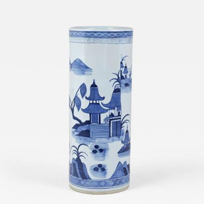 Porcelain Chinoiserie style Umbrella Stand