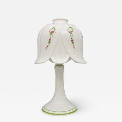 Porcelain Table Lamp by Bassano Italy 1960s