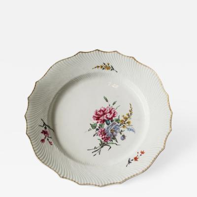 Porcelain Tournai Porcelain Plate Mille Cotes