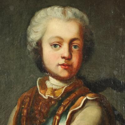 Portrait Of A Young Nobleman Central European School 18th Century