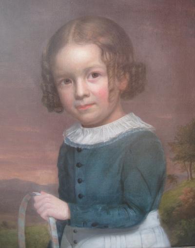 Portrait of a Boy w Hoop