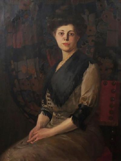 Portrait of a Lady by Rudolf Carl Mueller