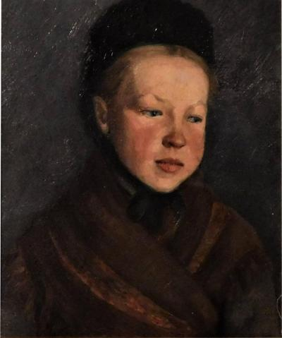 Portrait of a Young Girl in Folk Costume