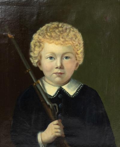 Portrait of a boy Dutch circa 1840 unsigned