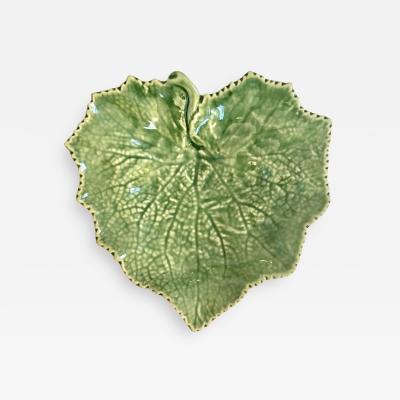 Portuguese Majolica Leaf Motif Candy Dish