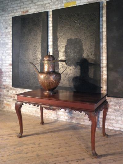 Portuguese Rococo 18th Century Mahogany Console Table Side Table