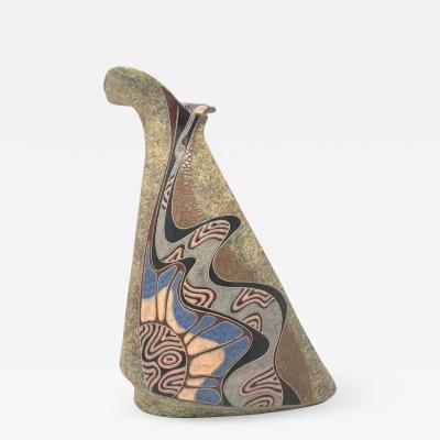 Post Modern Multi Toned Ceramic Vase