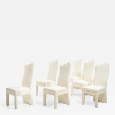 Post Modern Parsons Dining Chairs 1980