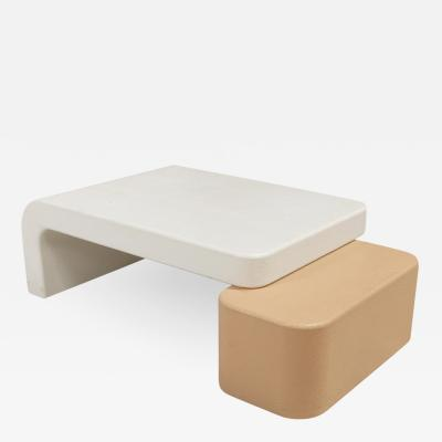 Post Modern Sculptural Plaster Coffee Table
