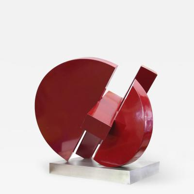 Postmodern Abstract Steel Sculpture by M Anderson 1981