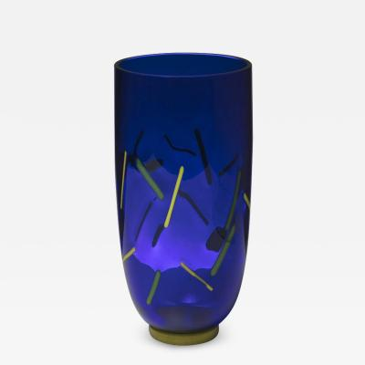 Postmodern Murano Glass Vase by Barovier and Toso
