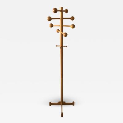 Postmodern Oak Coat Rack or Stand