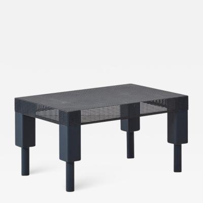 Postmodern blue metal table Europe 1980s