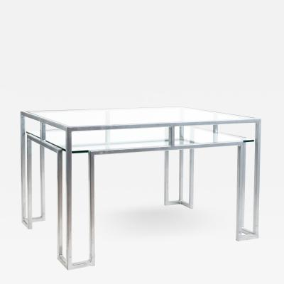 Postmodern steel glass coffee table