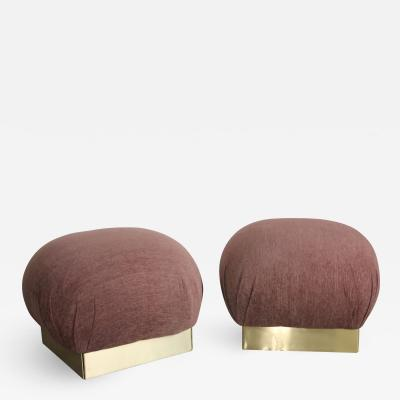 Poufs or ottomans in the style of Karl Springer