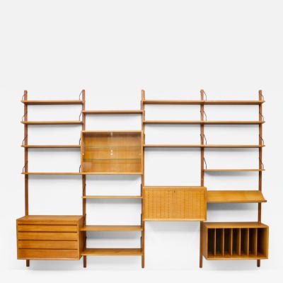 Poul Cadovius Large Wall System in Teak Wood by Poul Cadovius for Cado Denmark