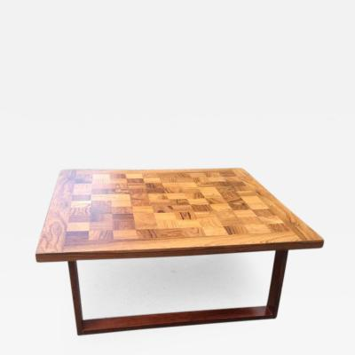 Poul Cadovius Parquetry Top Rosewood Coffee Table by Cadovius