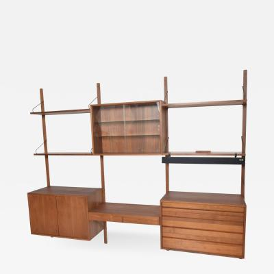 Poul Cadovius Poul Cadovius CADO Royal System Wall Unit in Teak Mid Century Danish Modern