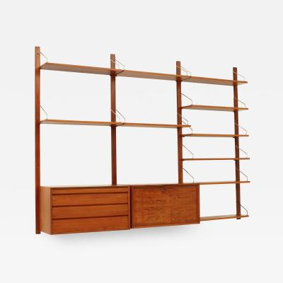 Poul Cadovius Teak Wall Unit by Poul Cadovius for Cado