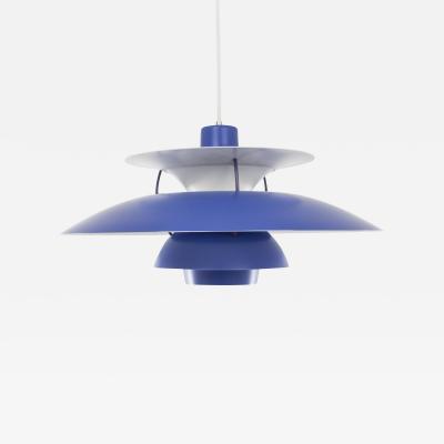 Poul Henningsen Blue PH 5 pendant by Poul Henningsen for Louis Poulsen 1950s